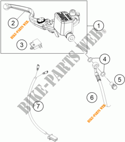 BREMSPUMPE VORNE für KTM 390 DUKE WHITE 2018 # KTM