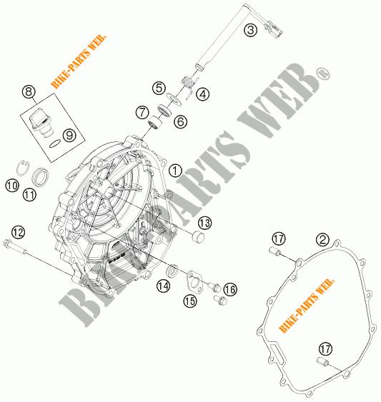 DECKEL KUPPLUNG für KTM 125 DUKE ORANGE 2011 # KTM