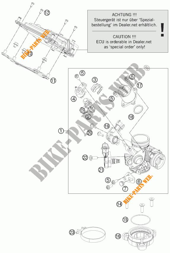 EINSPRITZANLAGE für KTM 125 DUKE ORANGE 2011 # KTM