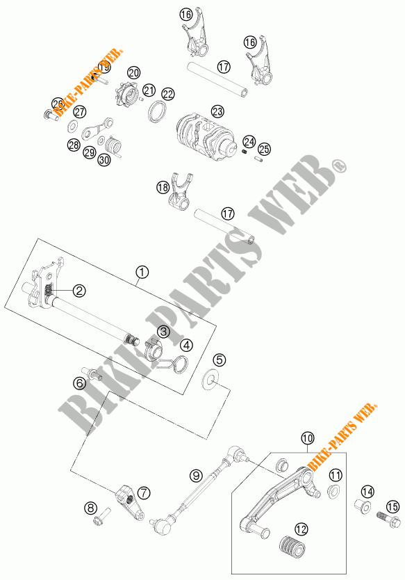 GETRIEBE SCHALT für KTM 125 DUKE ORANGE 2011 # KTM