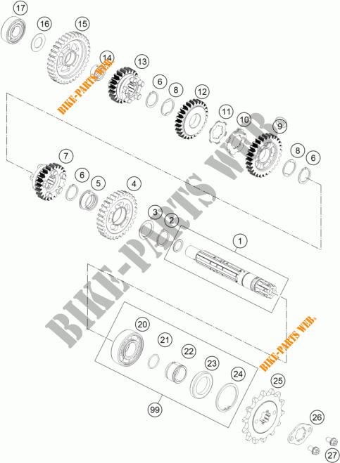 GETRIEBE VORGELEGEWELLE für KTM 125 DUKE ORANGE 2011 # KTM