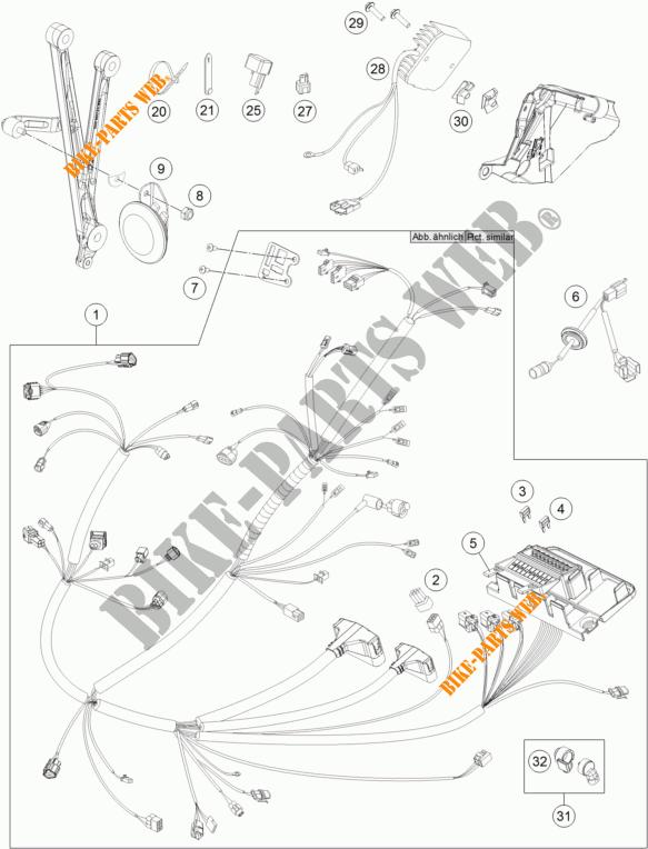 KABELBAUM ELEKTRIC für KTM 690 ENDURO R ABS 2015 # KTM