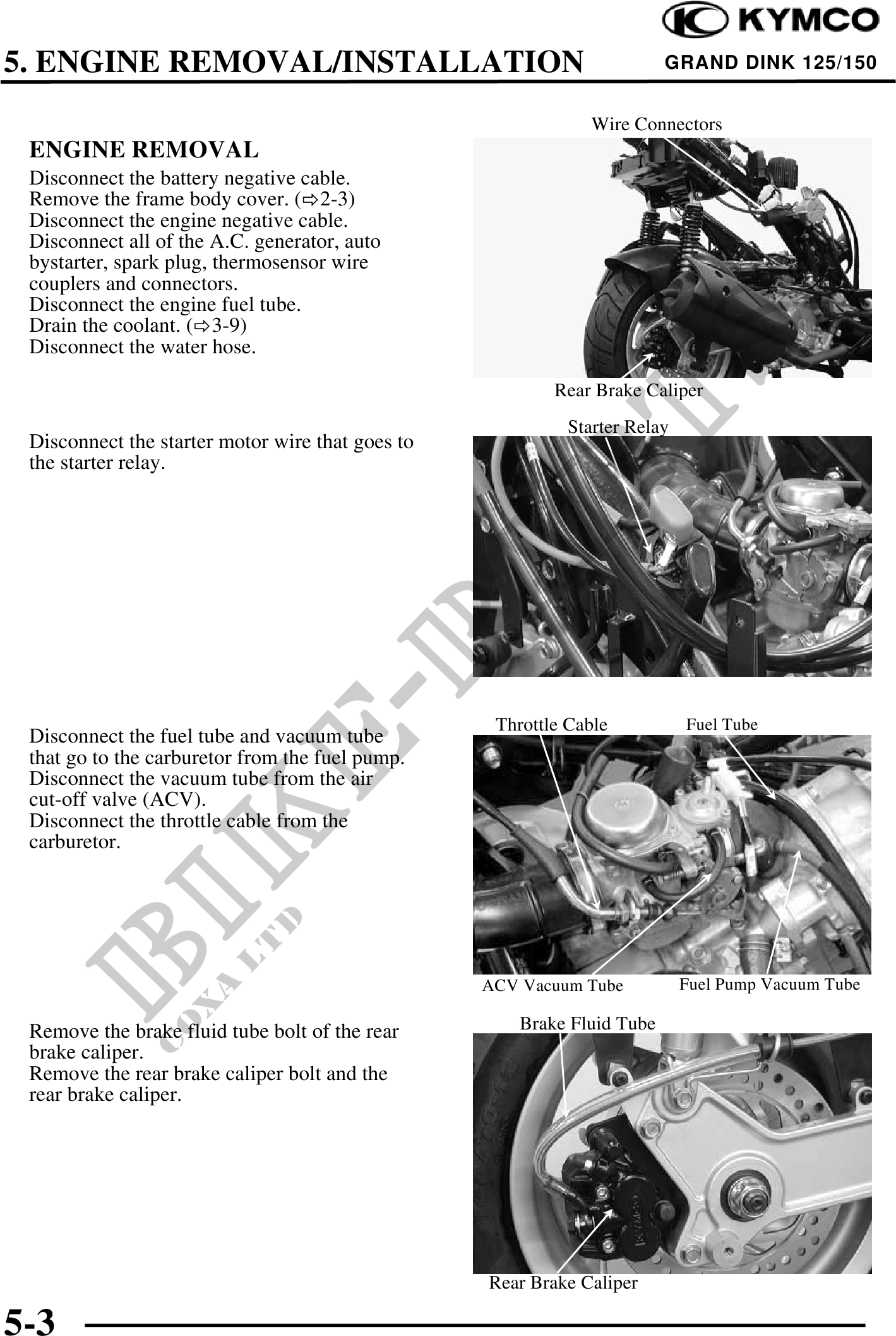 KYMCO GRAND DINK 125 150 WORKSHOP SERVICE REPAIR MANUAL