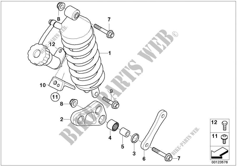 Hinterradschwinge für BMW F 650 CS Scarver 2003 # BMW