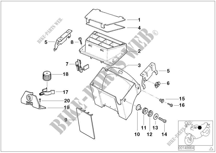 Kabelbinder, Schlauch /Kabelhalter für BMW R 850 GS 95