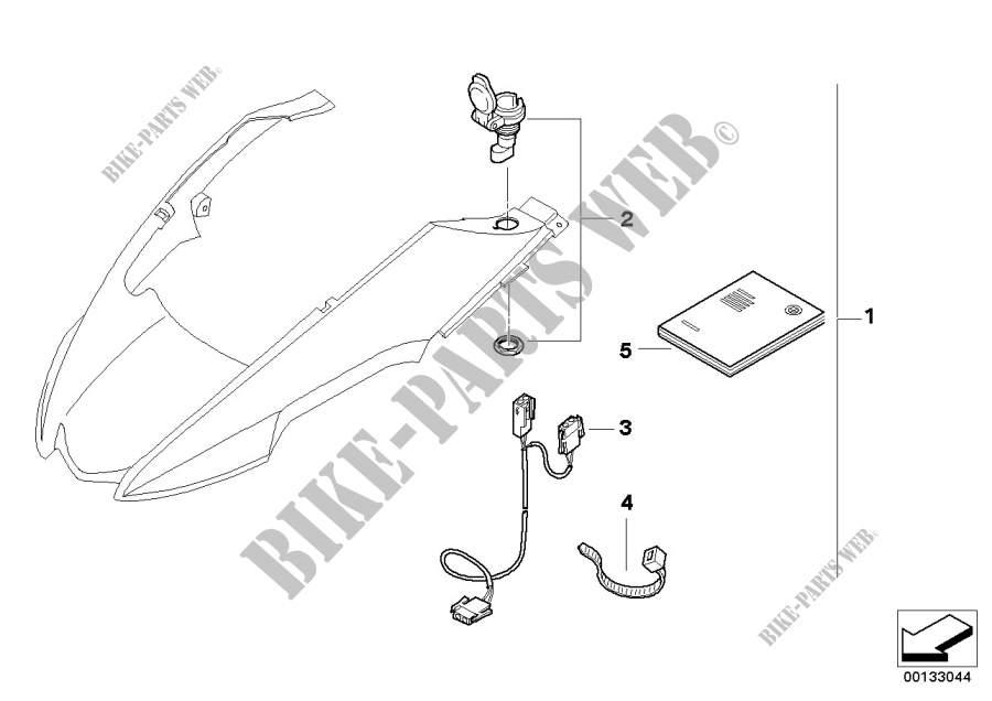 Nachrüstsatz Steckdose für BMW R 1200 GS 04 2002 # BMW