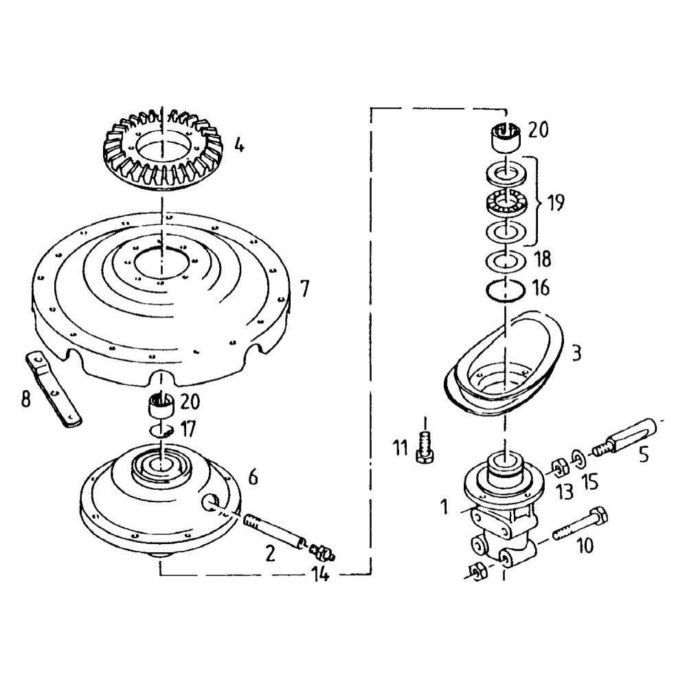 Kreiselantrieb passend für Deutz-Fahr KS 1.70 DN