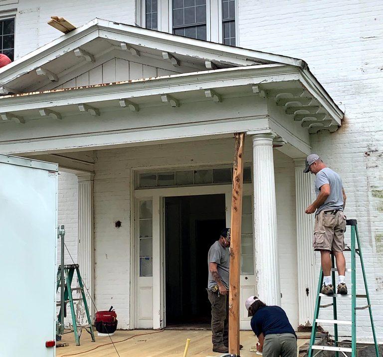 Alumni House Column Repair crop 2