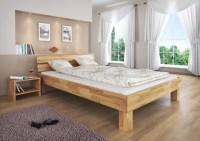 60.80-14-220 Bett Buche Massivholz natur lackiert 140x220 ...