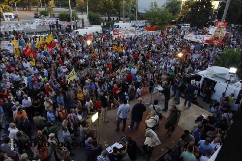 Α. Τσίπρας , Π. Καμμένος , Δ. Κουτσούμπας και πλήθος κόσμου είπαν «όχι στο μαύρο στη ζωής μας και στη δημοκρατία»