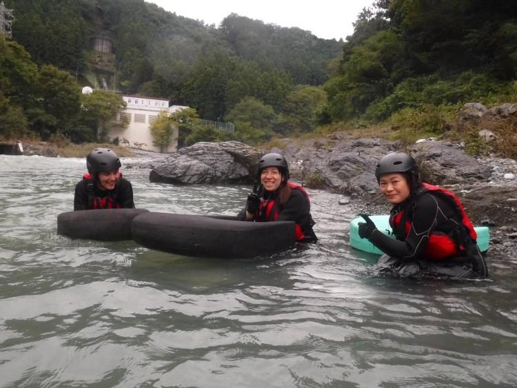 Riverboarding in Tama