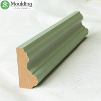 China Chair Rail moulding with PVC Wrapped Mdf ...
