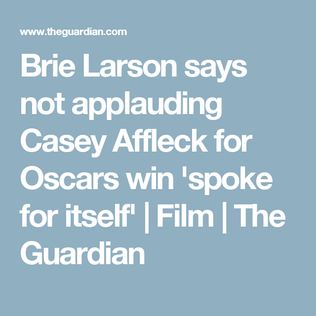Casey Affleck is an Asshole