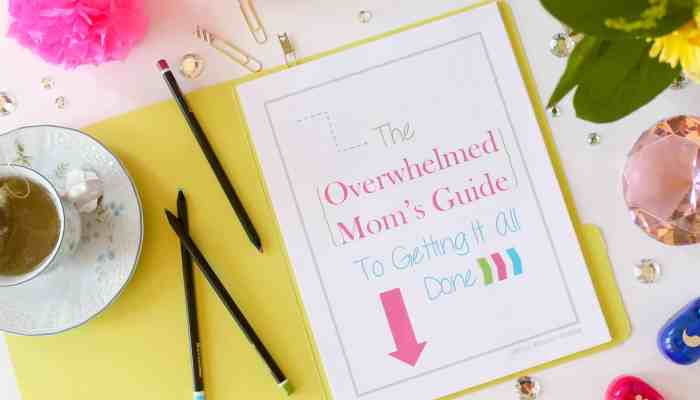 """The Overwhelmed Mom's Guide To Getting It All Done"" FREE Printable Binder System"