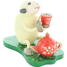 Kaffeetrinkendes Schaf