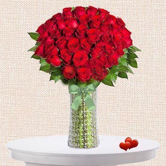 kırmızı gül aranjman sevgiliye çiçek çiçek gönder