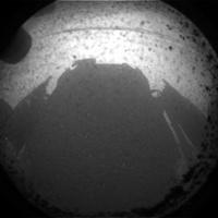 Primer punto de vista de la curiosidad de Marte