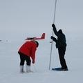 Realización de mediciones en el hielo