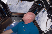 André observing Earth from Cupola
