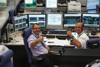 Mission directors signalling the spirit at the ATV-CC