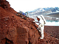 Testing how Cliffbot can be used to support astronaut activities
