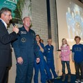 André Kuipers, introduced by ESTEC Director Franco Ongaro