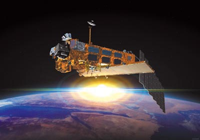 Envisat satellite, artist's impression