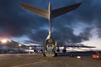 Galileo FM4 unloaded from Ilyushin aircraft