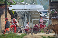 A solar-powered base station in Mambi, Indonesia