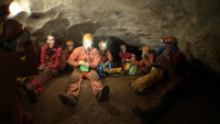 In cave during the preparatory training