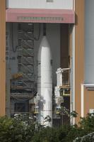Ariane 5 and ATV Edoardo Amaldi ready for roll to the launch pad