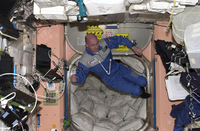 André aboard ISS in 2006