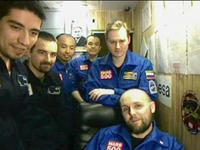 Mars500 crew seen on video