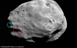 Localisatiion des sites d'aterrissage possibles de la futur mission Phobos-Grunt