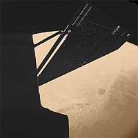 Stunning image of Rosetta above Mars taken by the Philae lander