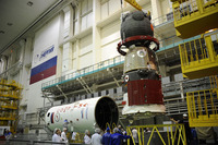Soyuz TMA-03M attached to Soyuz upper stage