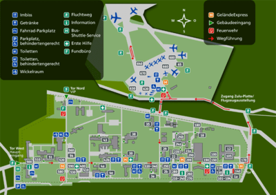 Map of the German Aerospace Day venue