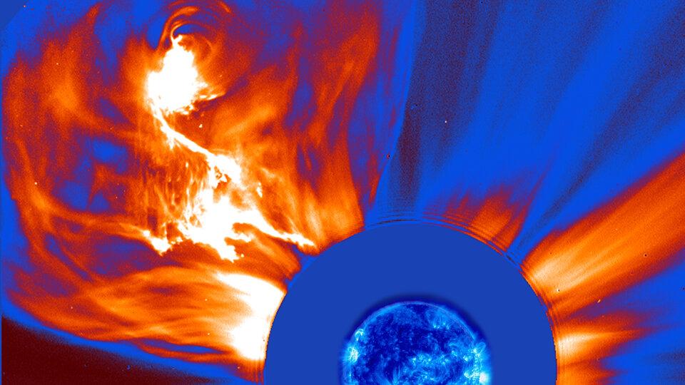A fiery solar explosion