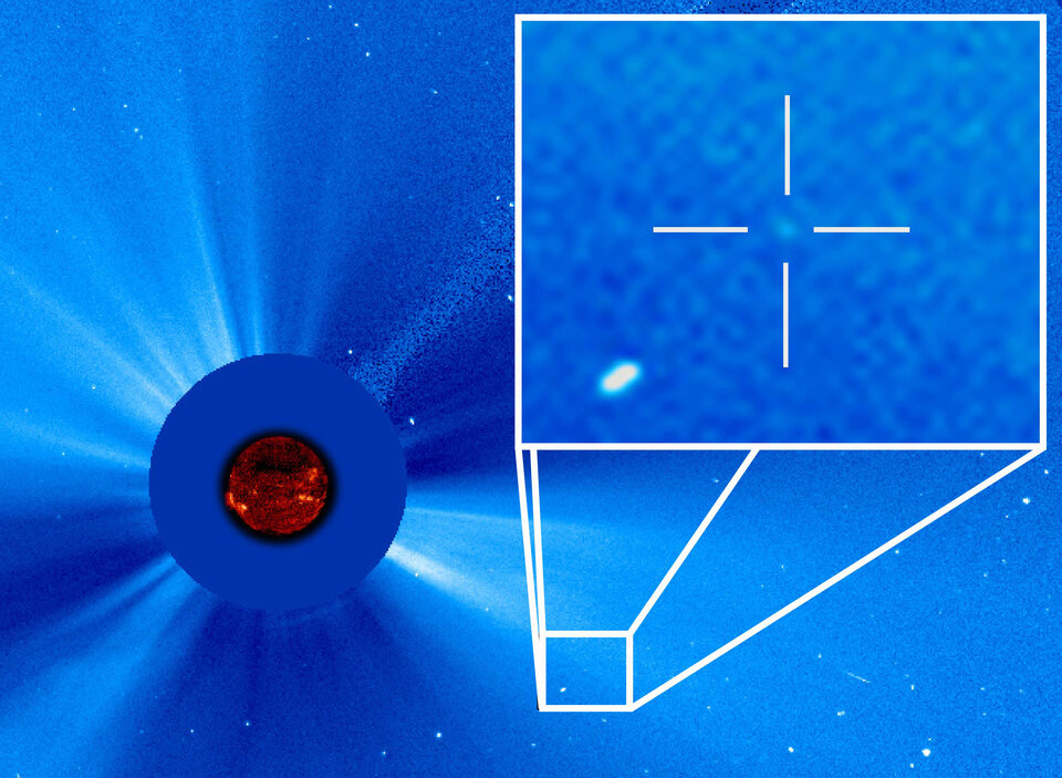 SOHO's 3000th comet, discovered in 2015 by a comet hunter from Thailand.