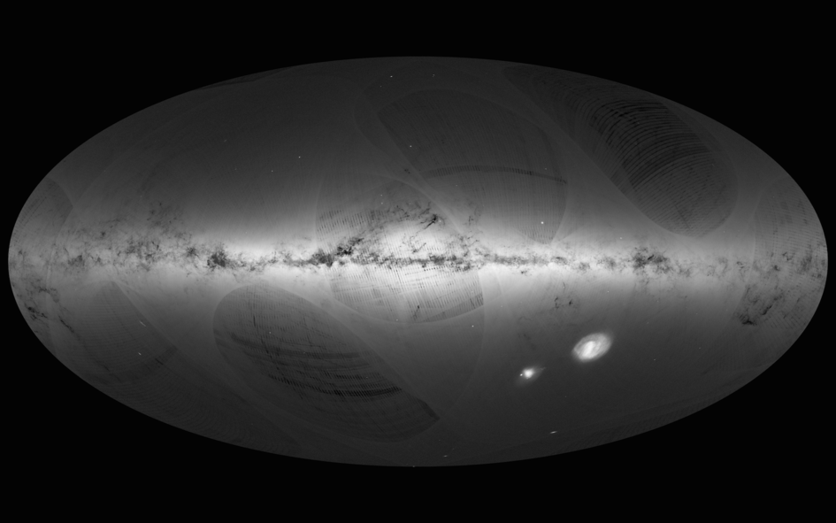 Gaia's first sky map