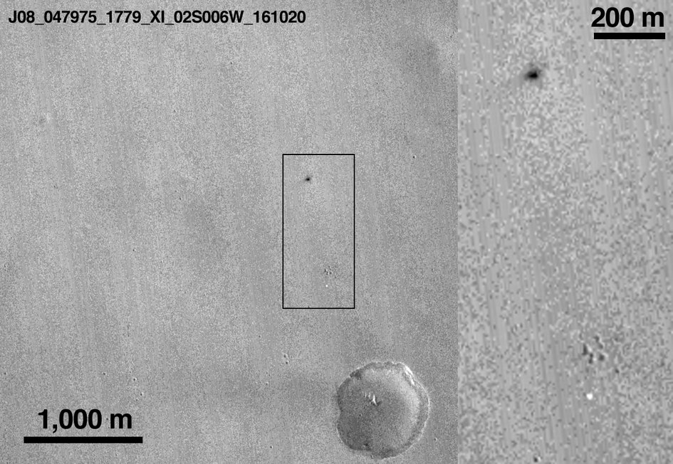 MRO image of Schiaparelli – after