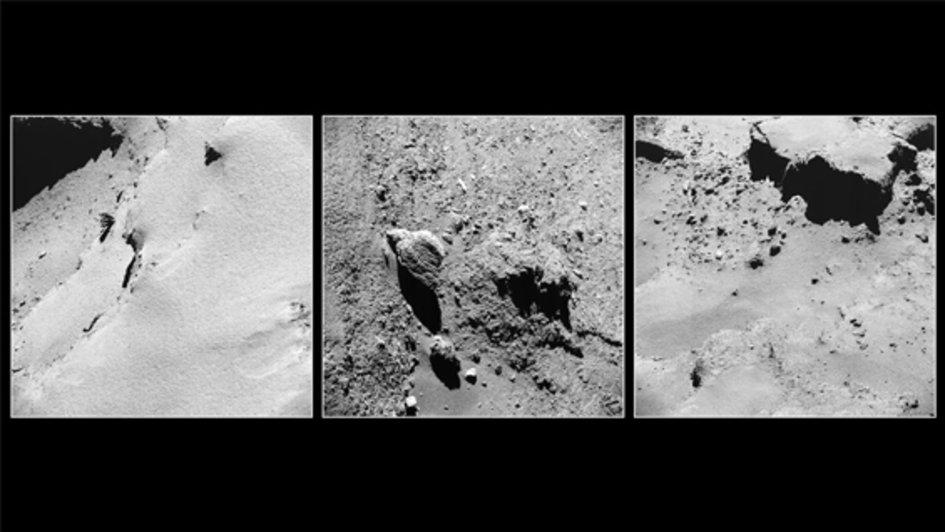 Rosetta comet close-ups