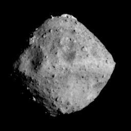 After a 42-month journey, Japan's Hayabusa2 spacecraft arrived at asteroid 162173 Ryugu, 300 million km from Earth, on 27 June at 02:35 CEST, supported in part by ESA ground stations.