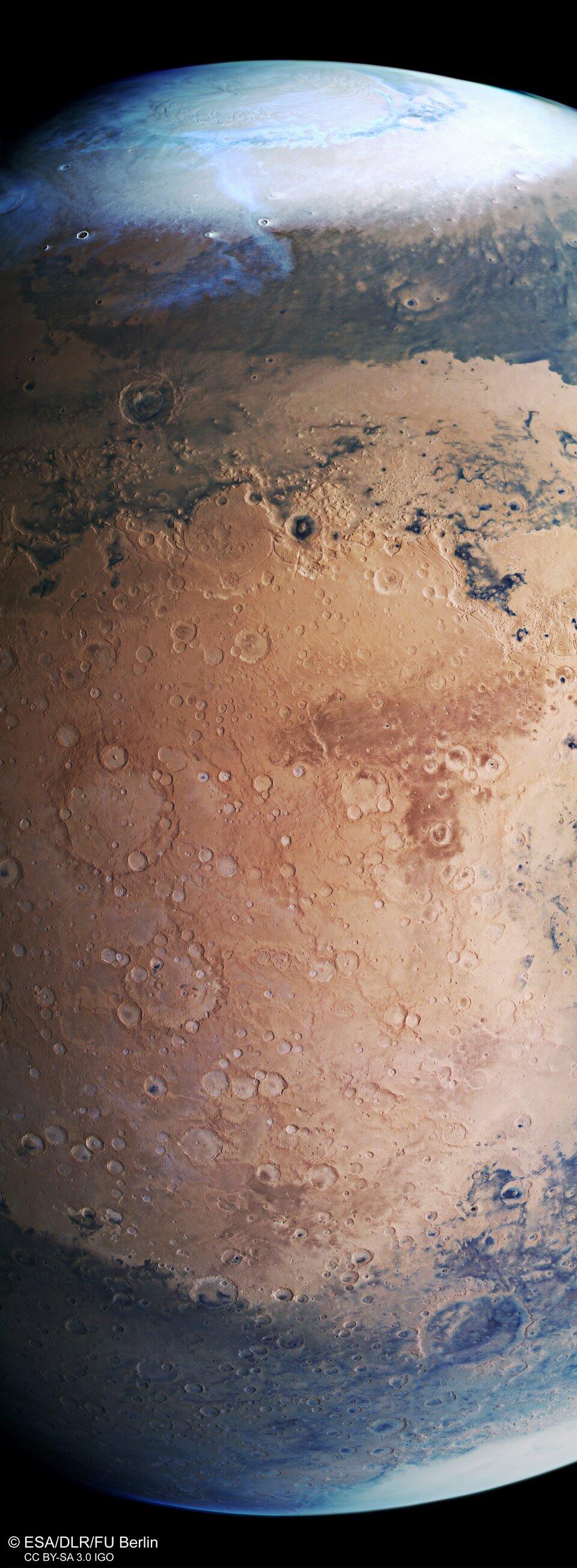 Mars Express view of Terra Sabaea and Arabia Terra