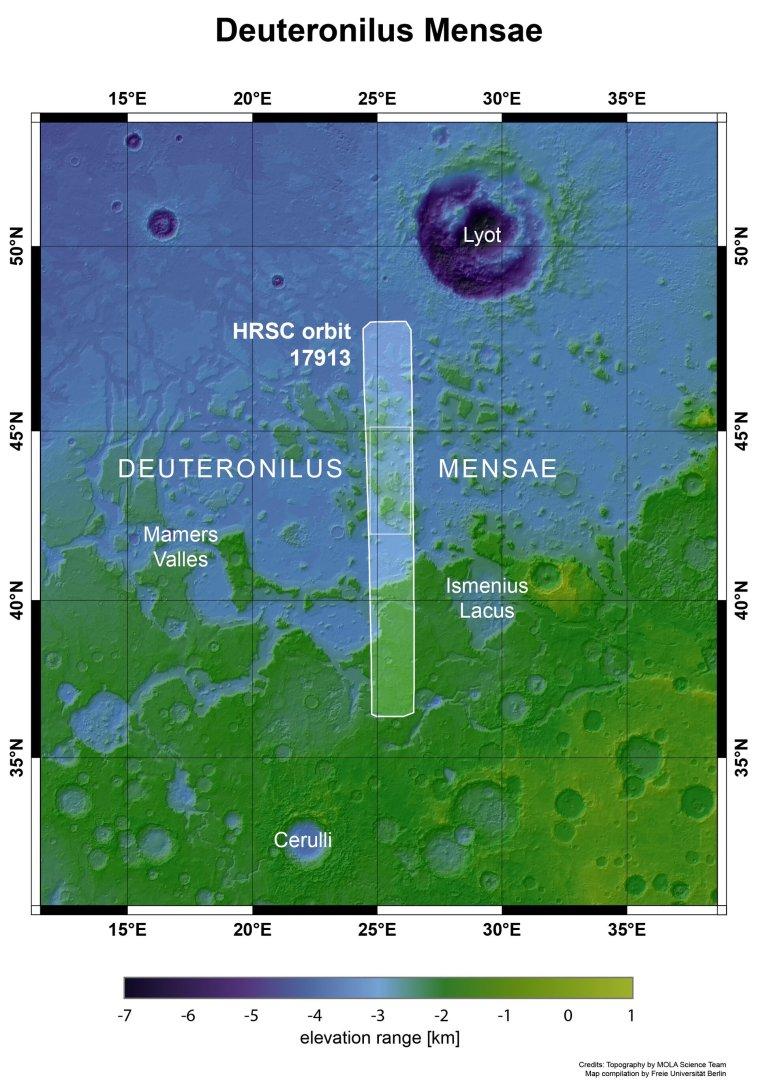 Deuteronilus Mensae nel contesto