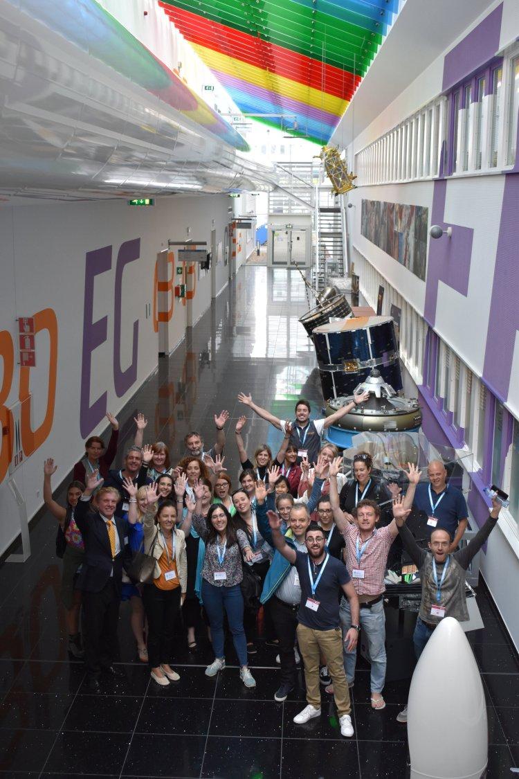 Teachers visiting ESTEC facilities