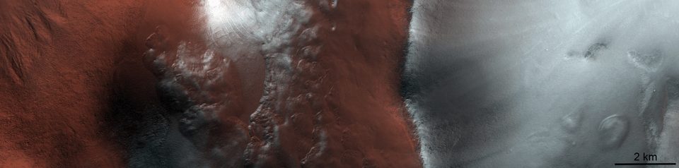 Bacia de impacto Argyre após o equinócio da primavera