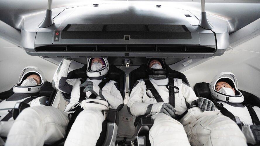Crew-2 training in Dragon spacecraft