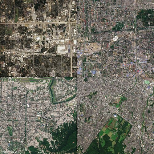 With Easter right around the corner, we take a look at four egg-shaped buildings visible from space as captured by the Copernicus Sentinel-2 mission.