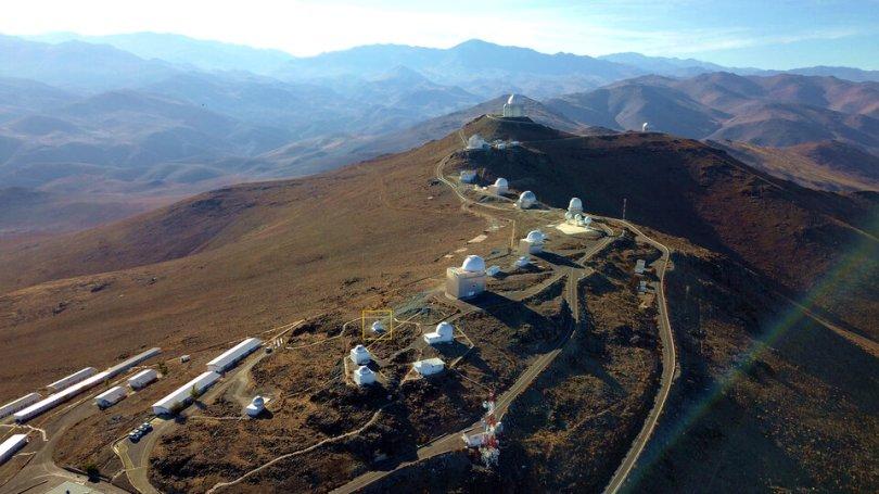 ESA s Test Bed Telescope 2 on site at La Silla article - O mais novo telescópio da ESA no lado Sul do Planeta em busca de Asteróides